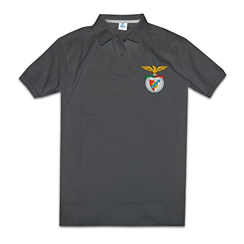 mens-sl-sport-lisboa-benfica-logo-short-sleeve-polo-shirt-size-l-color-black
