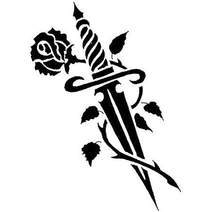 Raven Daga Y Tatuaje De Rose: Amazon.es: Coche y moto