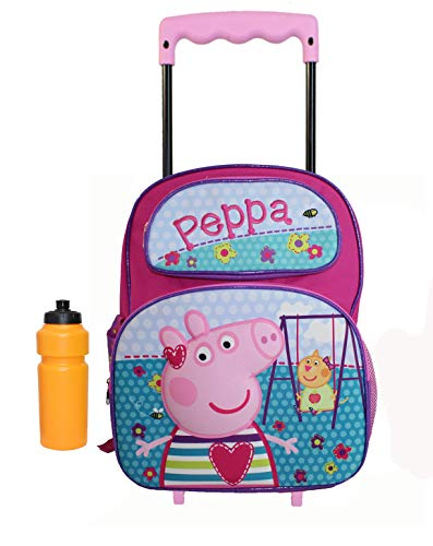 New 3D Peppa pig Large Rolling Backpack