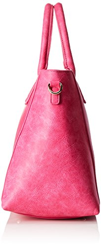 fuchsia 01 Borsa H Donna Pu Cm Bwg Rosa Maniglia Leather b 06 20x30x36 Con T Bag Buffalo X qwaXfT8