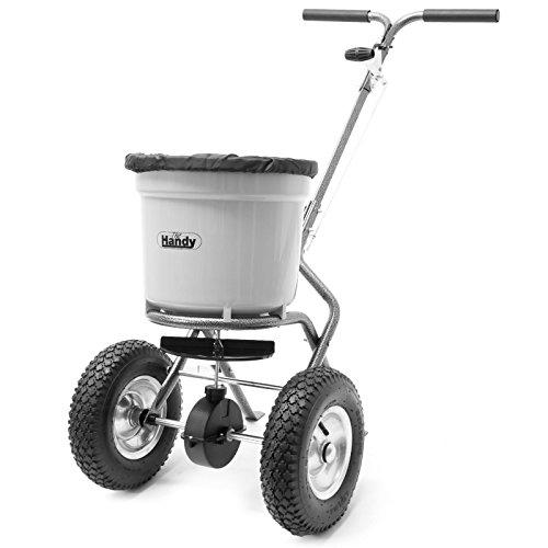 Handy 50lb Wheeled Push Lawn and Fertiliser Spreader