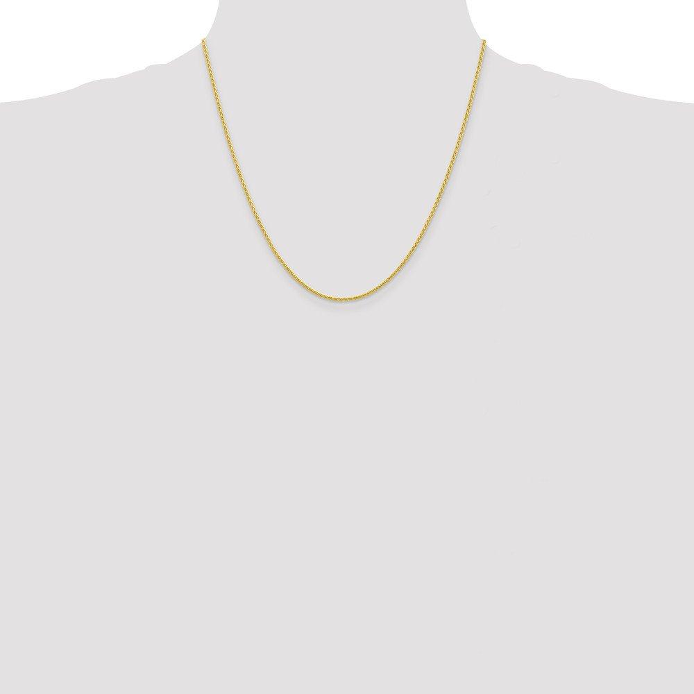 Mia Diamonds 10k Yellow Gold 1.5mm Parisian Wheat Chain Necklace