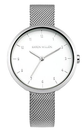 Karen Millen KM135SM Ladies Silver Steel Bracelet Watch
