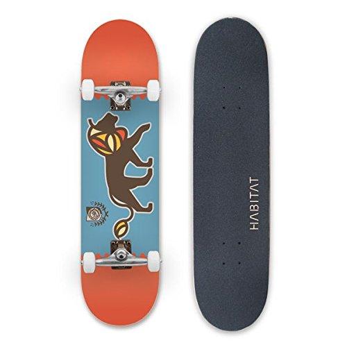 HABITAT SKATEBOARDS Majestic Complete Standard Skateboard, 7.75, Multicolor