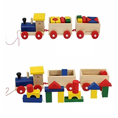 Old Fashioned Wooden Blocks (Sealive Wooden Blocks Multicolorful Cartoon Cool Design Kid Educational Toy,Birthday&Christmas Gift For 0-15 Years Kids Learning)