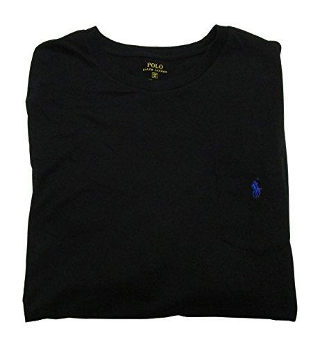 Polo Ralph Lauren Mens' Big and Tall T-Shirt Jersey Crew Neck Pocket T-Shirt (3XB, Polo Black)