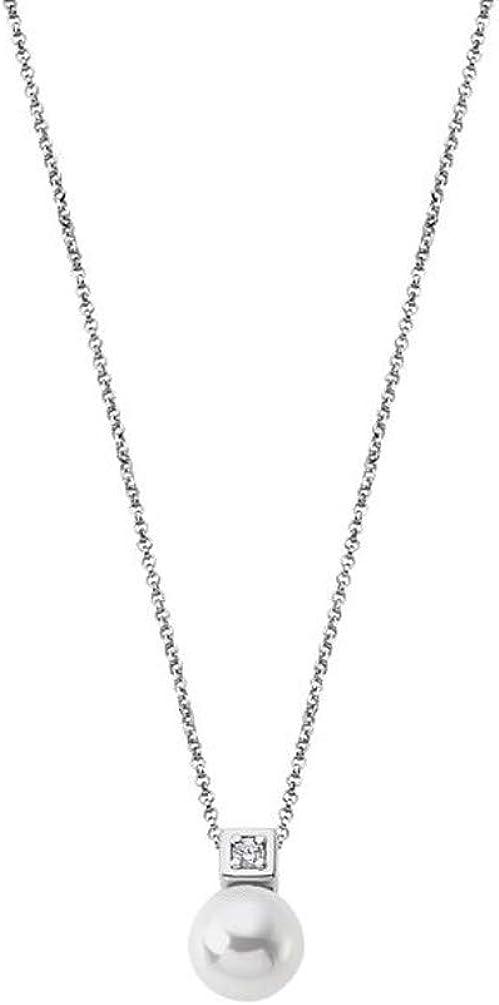 Lotus Silver Collar Pearls LP1802-1/1 Plata de Ley Perla y circonita
