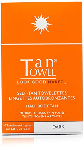 Tan Towel Total Body Tan Dark, 0.5 fl. oz, Set of 5 (Tan Body Towels)