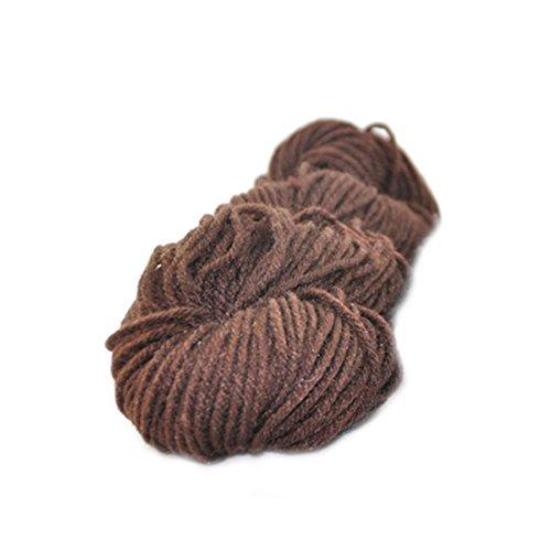 (One Size 41 Coffee) - Wool Knitting DIY Woven Thread Polyester Yarn Hand Crocheted Blanket Elastic-Coffee