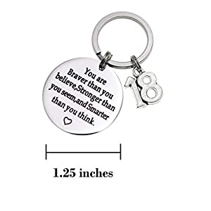 Melix HOME Birthday Gift Happy Birthday Keychain, 10th 12th 13th 16th 30th, Stainless Steel Birthday Key Ring Gift Women…