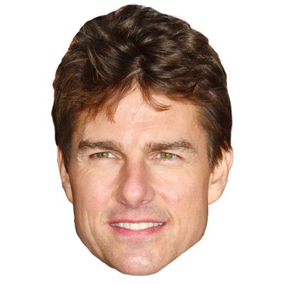 Tom Cruise Celebrity Mask, Card Face and Fancy Dress ()