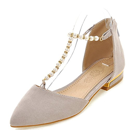 Fashion Heel Women's Pointed Toe D'orsay Pearls Strap Ballet Shoes Flat B01IEDUUX6 Shoes Ballet f52280