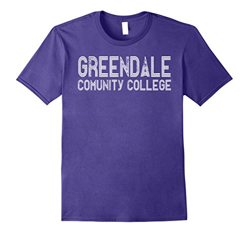 Mens Greendale Community College T-Shirt Cool Community Gift Tee 3XL Purple (Cool Onesies For Men)
