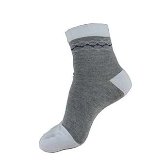 TULIPTREND Mens-Women- Cotton Crew Athletic Toe Socks, 3-Pack