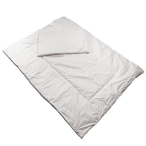 Bettzeug Baby Kissen 40 x 60 + Decke 120 x 90 Steppbett schmutzabweisend weiß KiNDERWELT