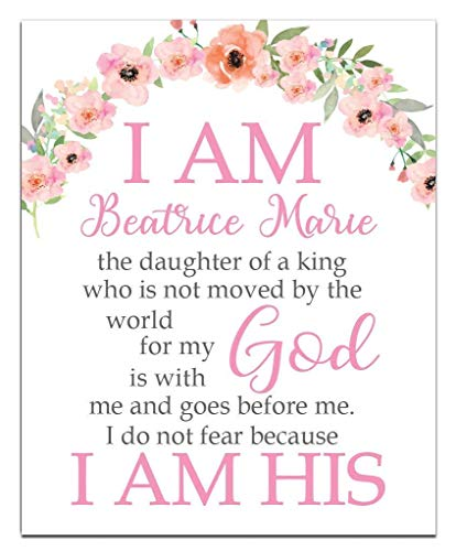 I am His Print | Girls Room Decor | Girls Wall Art | Baby Girl Gift | Confirmation Gift | Goddaughter Gift | Christening Gift | Religious Gift | Christening Present | Baptism Present | First Communion -
