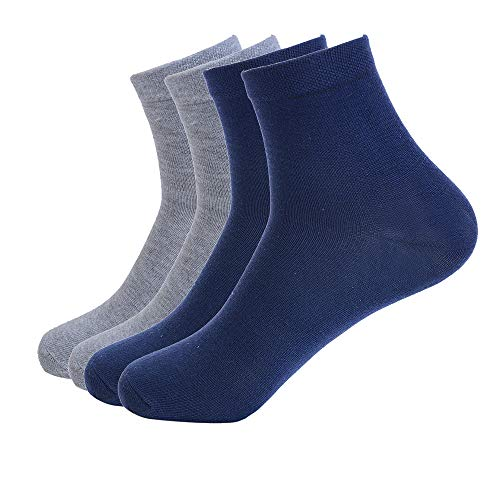 Men Casual Small Squares Business Deodorant Breatheable Long Dress Sock Chaussette Homme