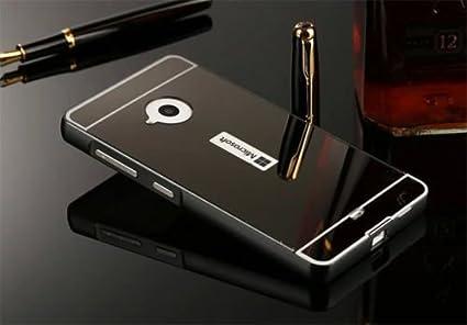 pretty nice b6e13 881c5 D-kandy Luxury Metal Bumper + Acrylic Mirror Back Cover Case For Microsoft  Nokia Lumia 535 - Black