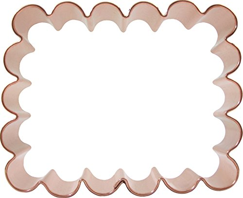 CopperGifts: Scalloped Rectangle Cookie Cutter 4.25-inch