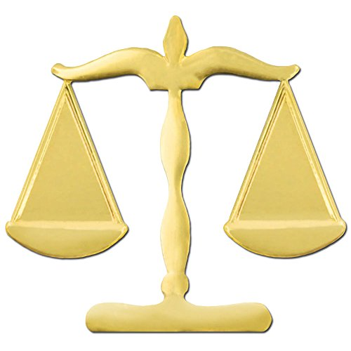 PinMart's Gold Plated Scales of Justice Legal Lapel Pin 3/4