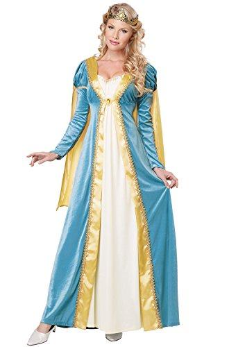 California Costumes Women's Elegant Empress Renaissance Lady Gown, Blue, (Royal Empress Adult Costumes)