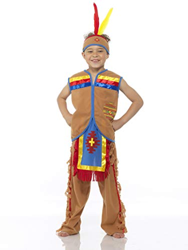 Boy's Indian Chief Costume, for Halloween Costume Party Accessory, Medium ()