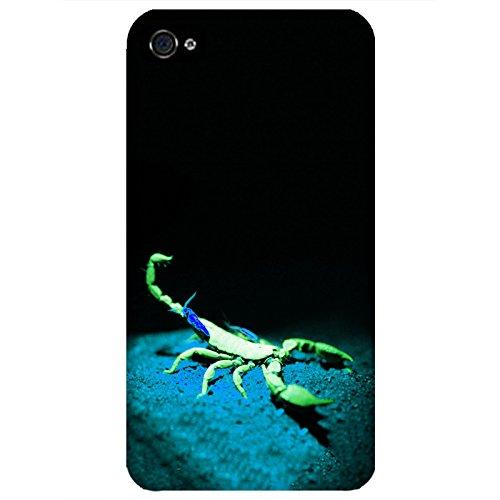 Coque Apple Iphone 4-4s - Alien Scorpion Vert