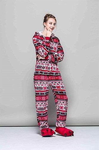 Joygown Adulte Unisexe Pyjama Une Pièce Vêtements De Nuit Cosplay Fête D'halloween Noël Oiseau Rouge Costume Animal
