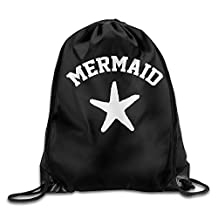 42 Mermaid Star Classic Pattern Cinch Pack Shoulders Drawstring Backpack