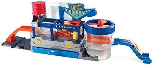 Hot Wheels FTB66 City Mega Car Wash Connectable Play Set with Diecast and Mini Toy Car