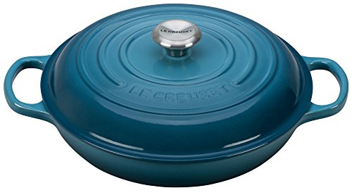 Le Creuset Enameled Cast Iron Signature 1.5QT. Braiser - Marine