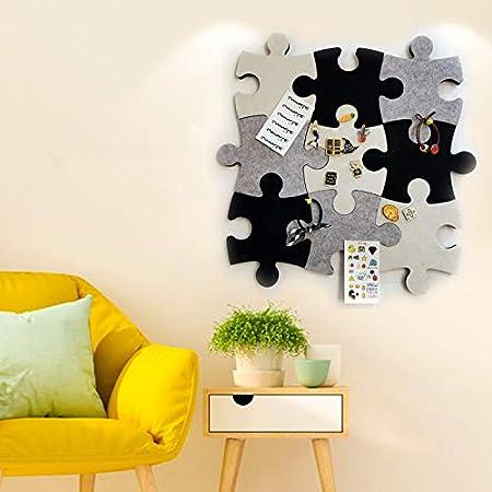 um Erinnerungen Fotos Memos Display Board Pads Bilder Zeichnen Tore Notizen Bunte Schaumstoff-Wanddekoration orange Puzzle-Form 1 St/ück Wand-Pinnwand Filz-Pinnwand aus Kork selbstklebend
