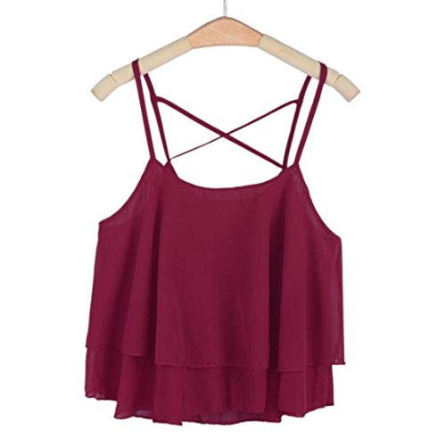 Blackobe Women's Pleated Layered Camis Front Pleat Cool Short Tank Dress (Red Wine)