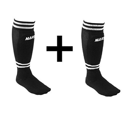 Martin Sports Youth Soccer Shinguards Sock Shin Guard Black