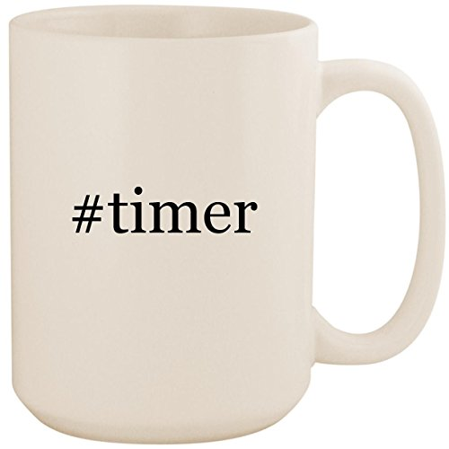 - #timer - White Hashtag 15oz Ceramic Coffee Mug Cup