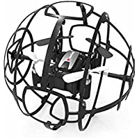 WonderTech RC Cyclone Drone Play Vehicles Toy for Kids and Adult, with Easy to Fly Technology Quadcopter, Color Black