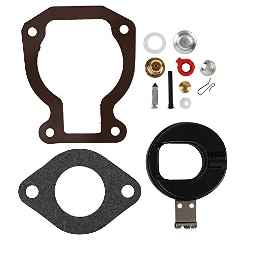 (CQYD 398453 Carb Repair Carburetor Rebuild Kit for with Float 4-15 hp Johnson Evinrude 398452 391305 439072 391937)