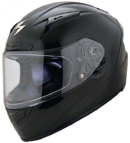 Scorpion Solids EXO-R2000 Sports Bike Motorcycle Helmet - Black / Small