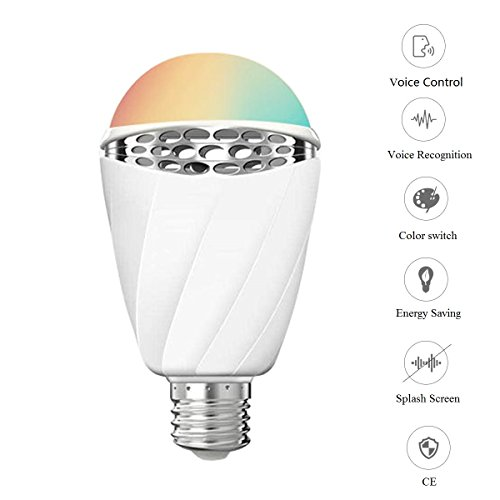 Smart LED Bulb Color, PANNOVO CE Certified Voice Control Bulb- Adjustable Dimmable Light Decorative Bulb
