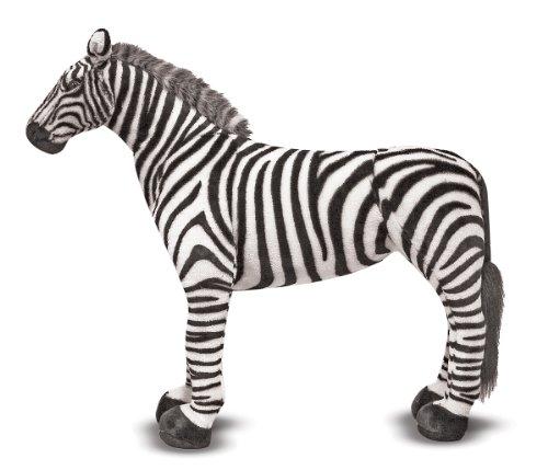 Melissa & Doug Giant Striped Zebra - Lifelike Stuffed Animal (nearly 3 feet tall) (Best Made Toys Jumbo Sitting Lion)