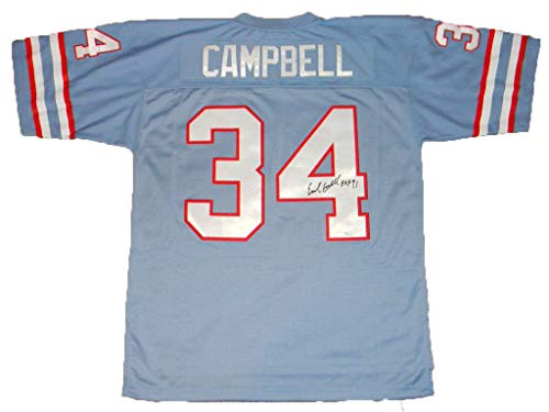 Houston Ness Oilers (Earl Campbell Autographed Signed Houston Oilers #34 Mitchell & Ness Jersey JSA)