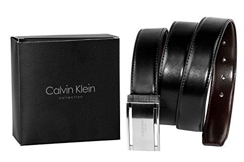 Ceinture Calvin Klein Collection homme en cuir réversible noir marron 2911