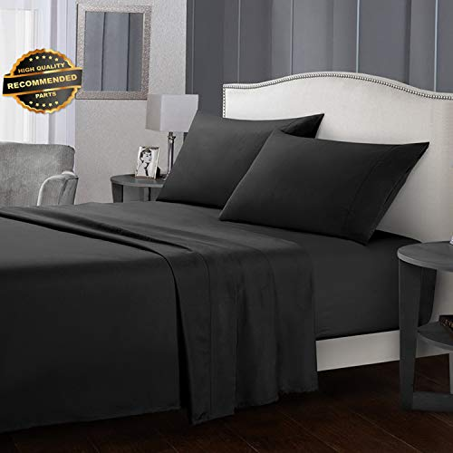 Four Pocket Hanger Set - Gatton Premium New King Size Bed Sheet Set Soft Comfort Microfiber 4 Piece Deep Pocket Flat Fitted | Collection SHEESRONG-200112563