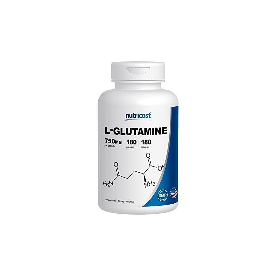 Nutricost L Glutamine 750mg; 180 Capsules