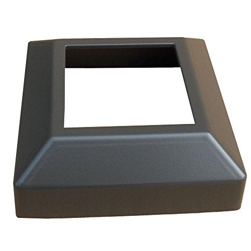 Contractor Deck Railing Aluminum 3x3 Post Base Cover - Bronze - Low Profile Bronze Post Base Cover