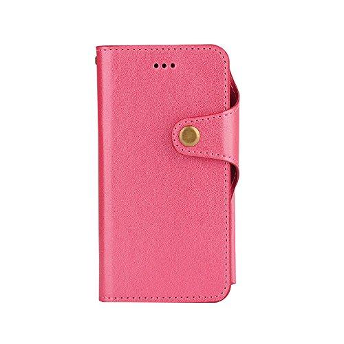 para iPhone 7 Wallet Phone Case, Vandot Premium PU Cuero Caja del Teléfono de la Carpeta con Desmontable TPU Bumper Phone Shell y Ranuras Tarjeta de Crédito y Makeup Mirror Multifuncional Mano Bolsa p JZPT 02