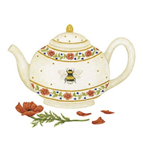 Alice's Cottage Honey Bee Tea Pot Flour Sack Kitchen Towels (set of 2)