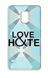 Love And Hate Cute Attitude Love Typography Miscellaneous Hate Protective Case For Sumsang Galaxy S5 Black