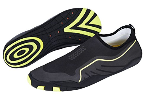 MEWOOCUE Sport Water Shoes Barefoot Quick-Dry Aqua Socks Beach Swim Surf Yoga Skin Shoes for Men Women - Size 9 by MEWOOCUE (Image #3)