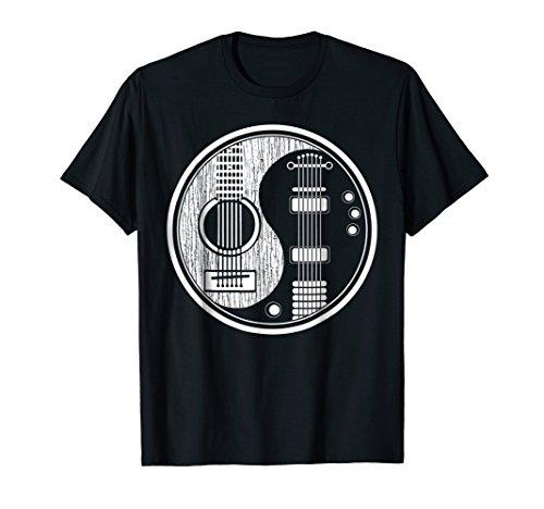 (Ying Yang Tee Shirt Acoustic Guitar TShirt Rock star Gift)